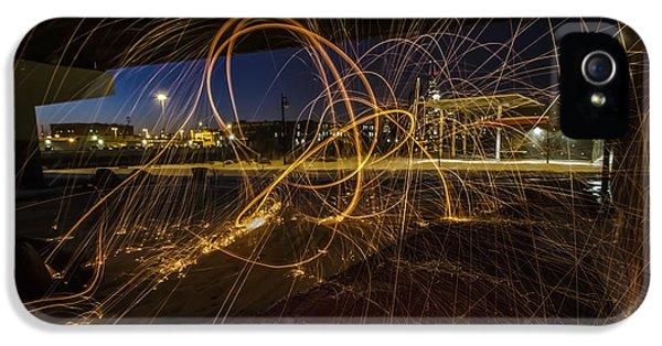 Sparking iPhone 5 Cases - Light Painting under a bridge iPhone 5 Case by Sven Brogren