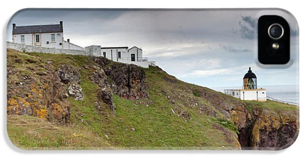 Lighthouse And Foghorn Along The Coast IPhone 5 / 5s Case by John Short