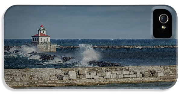 Oswego iPhone 5 Cases - Lighthouse iPhone 5 Case by Everet Regal