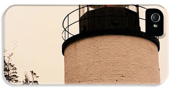 The Foghorn iPhone 5 Cases - Lighthouse in Maine iPhone 5 Case by Paul Szakacs