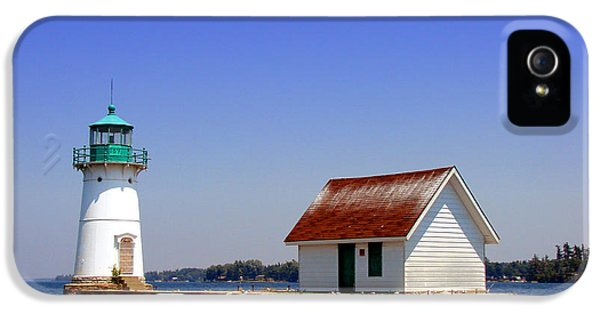 Lighthouse iPhone 5 Cases - Lighthouse on the St Lawrence River iPhone 5 Case by Olivier Le Queinec