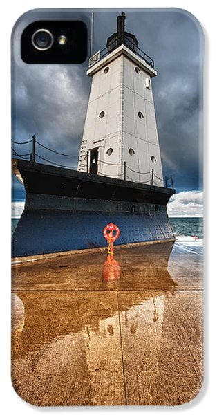 Storm iPhone 5 Cases - Lighthouse Reflection iPhone 5 Case by Sebastian Musial
