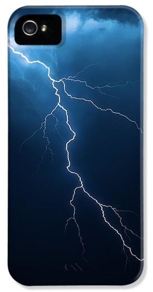 Striking iPhone 5 Cases - Lightning with cloudscape iPhone 5 Case by Johan Swanepoel