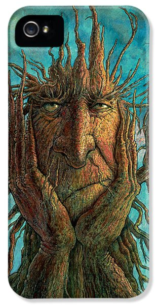Face iPhone 5 Cases - Lightninghead iPhone 5 Case by Frank Robert Dixon
