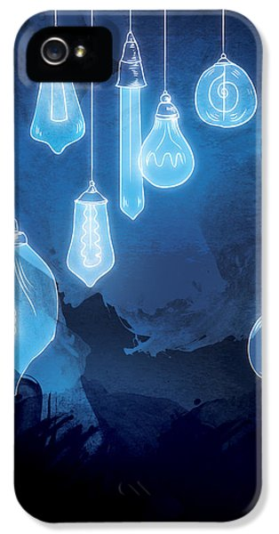 Light Bulb iPhone 5 Cases - Lights iPhone 5 Case by Randoms Print