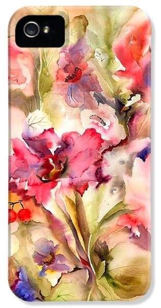 Lilies IPhone 5 / 5s Case by Neela Pushparaj