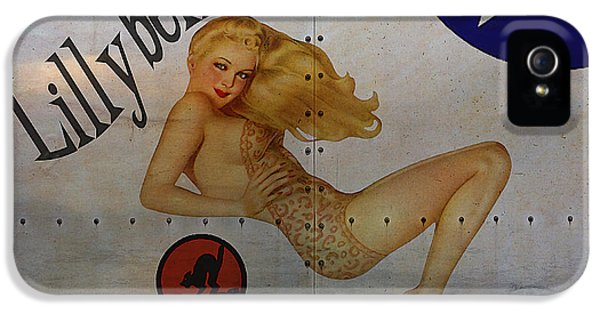 Navy iPhone 5 Cases - Lillybelle Nose Art iPhone 5 Case by Cinema Photography