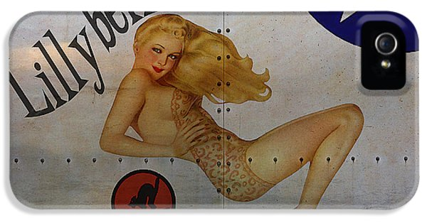 Air Force iPhone 5 Cases - Lillybelle Nose Art iPhone 5 Case by Cinema Photography