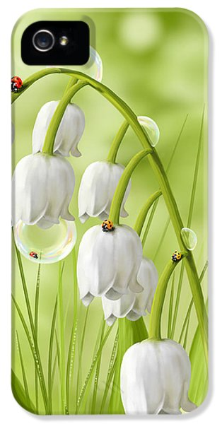 Waterdrop iPhone 5 Cases - Lily of the valley iPhone 5 Case by Veronica Minozzi