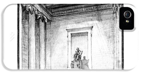 Lincoln Memorial Sketch IIi IPhone 5 / 5s Case by Gary Bodnar