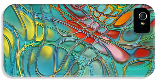 Multicolored iPhone 5 Cases - Lines and Circles -p07c08 iPhone 5 Case by Variance Collections