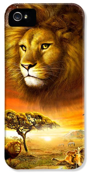 Puzzles iPhone 5 Cases - Lion Dawn iPhone 5 Case by Adrian Chesterman