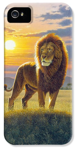 Proud iPhone 5 Cases - Lion iPhone 5 Case by MGL Studio - Chris Hiett