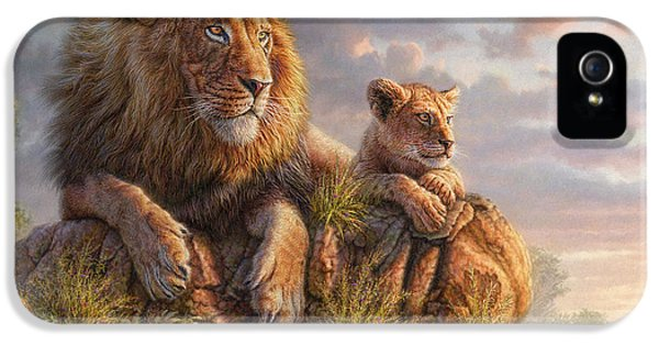 Glowing iPhone 5 Cases - Lion Pride iPhone 5 Case by Phil Jaeger