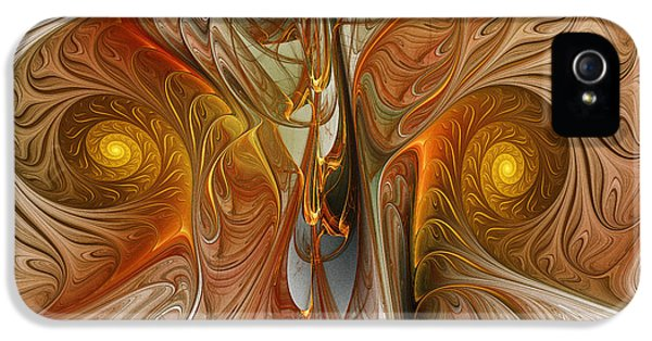 Contemplative iPhone 5 Cases - Liquid Crystal Spirals iPhone 5 Case by Karin Kuhlmann