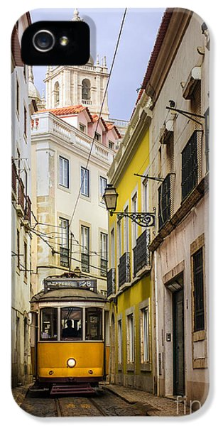 Old Tram iPhone 5 Cases - Lisbon Tram iPhone 5 Case by Carlos Caetano