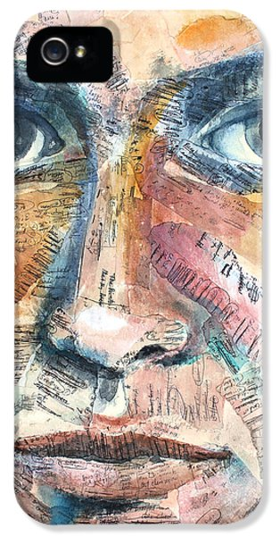 Watercolor iPhone 5 Cases - Listperson III iPhone 5 Case by Patricia Allingham Carlson