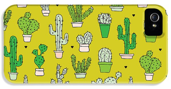 Little Cactus Botanical Garden IPhone 5 / 5s Case by Maaike Boot