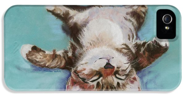 Pastel iPhone 5 Cases - Little Napper  iPhone 5 Case by Pat Saunders-White