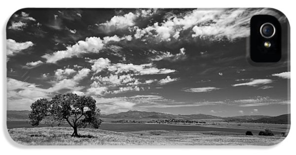 Beautiful Day iPhone 5 Cases - Little Prarie Big Sky - Black and White iPhone 5 Case by Peter Tellone