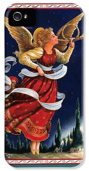 Angel iPhone 5 Cases - Little Town of Bethlehem iPhone 5 Case by Lynn Bywaters