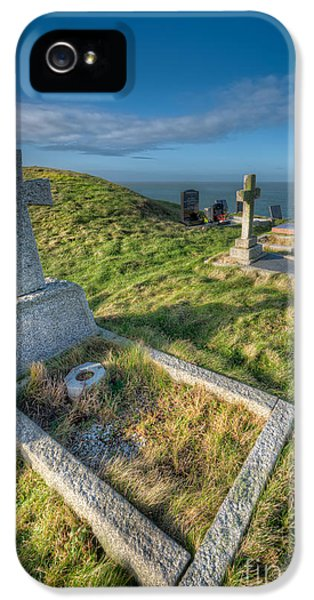 Cemetary iPhone 5 Cases - Llanbadrig Cemetery iPhone 5 Case by Adrian Evans