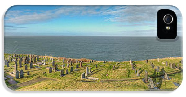 Cemetary iPhone 5 Cases - Llanbadrig Church Panorama iPhone 5 Case by Adrian Evans