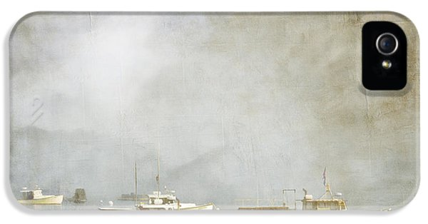 Lobster Boats At Anchor Bar Harbor Maine IPhone 5 / 5s Case by Carol Leigh