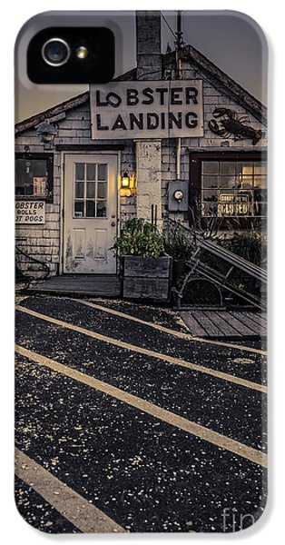Hot Dog iPhone 5 Cases - Lobster Landing Shack Restaurant at Sunset iPhone 5 Case by Edward Fielding