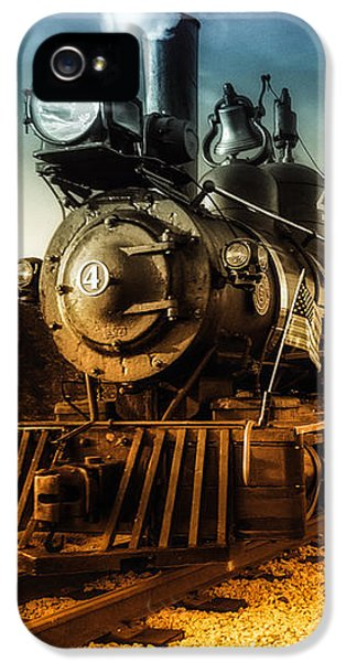 Industrial iPhone 5 Cases - Locomotive Number 4 iPhone 5 Case by Bob Orsillo