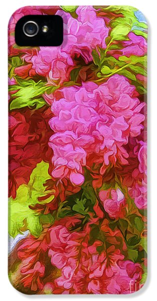 Bristly Rose iPhone 5 Cases - Locust Blooms-Painted-2 iPhone 5 Case by Nancy Marie Ricketts