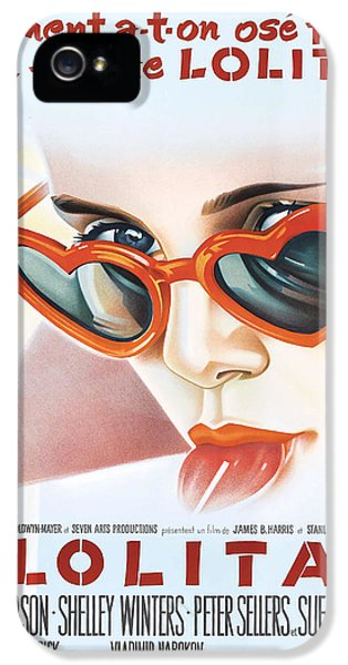 Trailer iPhone 5 Cases - Lolita Poster iPhone 5 Case by Gianfranco Weiss