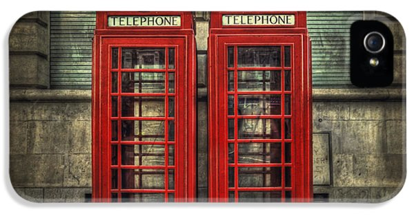 Vintage iPhone 5 Cases - London Calling iPhone 5 Case by Evelina Kremsdorf
