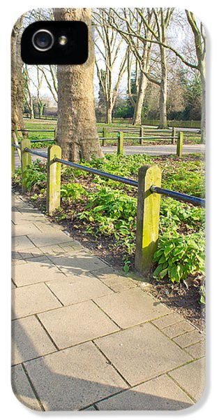 Board iPhone 5 Cases - London park iPhone 5 Case by Tom Gowanlock