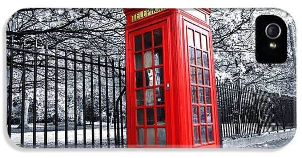Box iPhone 5 Cases - London Phone Box iPhone 5 Case by Simon Kayne