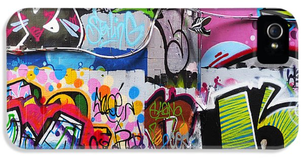 Graffiti iPhone 5 Cases - London Skate Park Abstract iPhone 5 Case by Rona Black