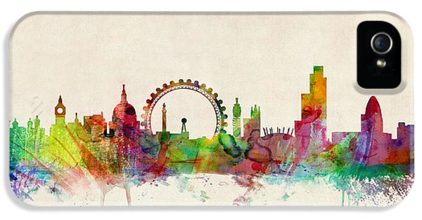 England iPhone 5 Cases - London Skyline Panoramic iPhone 5 Case by Michael Tompsett