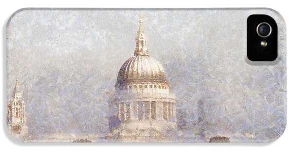 Oil House iPhone 5 Cases - London St Pauls in the fog iPhone 5 Case by Pixel  Chimp