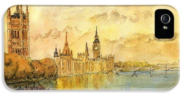 London Thames River IPhone 5 / 5s Case by Juan  Bosco