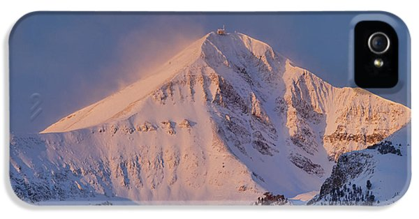Pink Sunrise iPhone 5 Cases - Lone Peak Alpenglow iPhone 5 Case by Mark Harrington