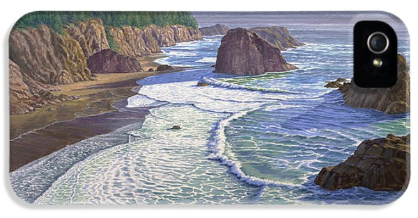 Oregon Coast iPhone 5 Cases - Looking South- Oregon Coast iPhone 5 Case by Paul Krapf