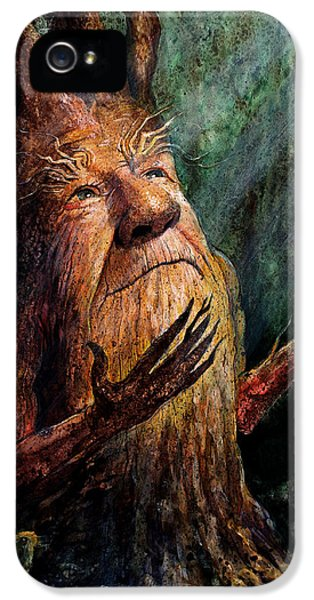 Face iPhone 5 Cases - Looking To the Light iPhone 5 Case by Frank Robert Dixon