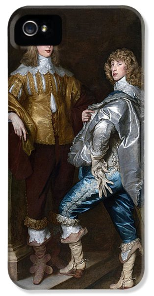 Glove iPhone 5 Cases - Lord John Stuart And His Brother, Lord Bernard Stuart C.1623-45 C.1638 Oil On Canvas iPhone 5 Case by Sir Anthony van Dyck