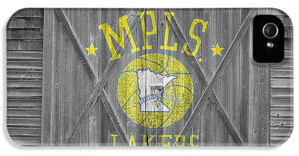 Lakers iPhone 5 Cases - Los Angeles Milwaukee Lakers iPhone 5 Case by Joe Hamilton