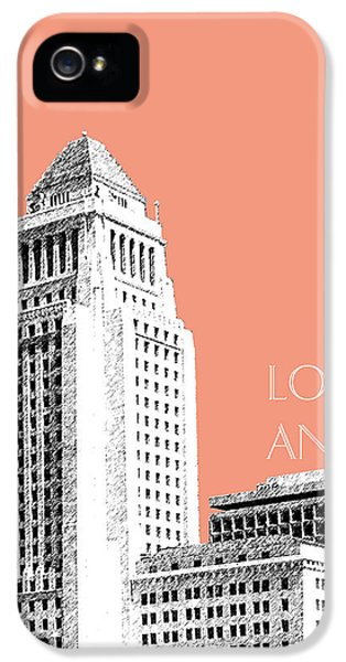 Los Angeles Skyline City Hall - Salmon IPhone 5 / 5s Case by DB Artist