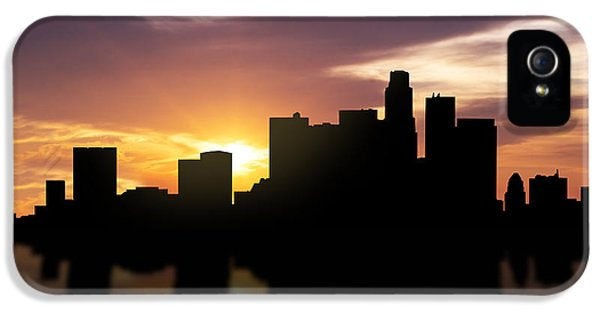 Los Angeles Sunset Skyline  IPhone 5 / 5s Case by Aged Pixel