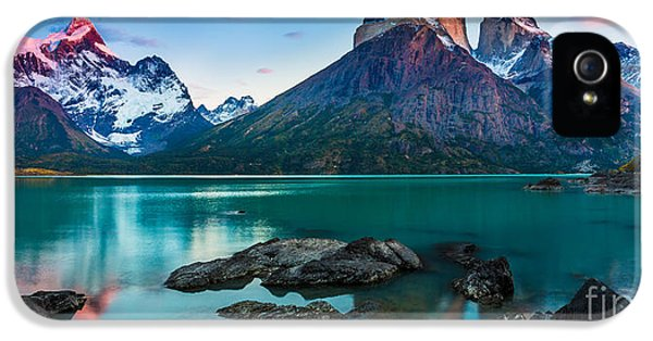 Reflective iPhone 5 Cases - Los Cuernos Panorama iPhone 5 Case by Inge Johnsson