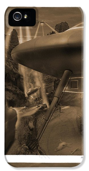Spaceships iPhone 5 Cases - Lost Film 35 mm iPhone 5 Case by Mike McGlothlen