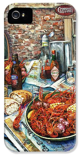 Food iPhone 5 Cases - Louisiana Saturday Night iPhone 5 Case by Dianne Parks