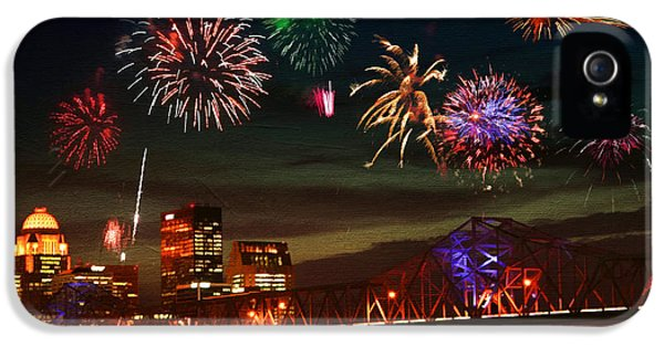 Fire Works iPhone 5 Cases - Louisville Kentucky Celebration iPhone 5 Case by Darren Fisher